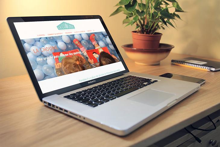 Site web responsive et identité visuelle, La Chouine, Paris