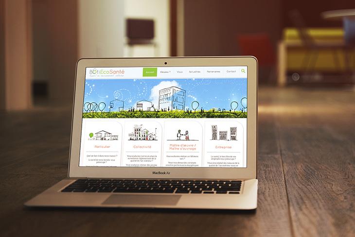 Site internet de Bâti Éco Santé